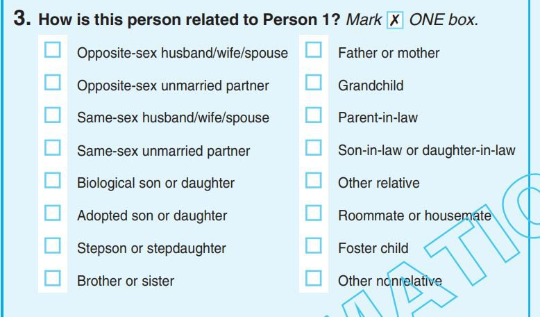 Sample census form